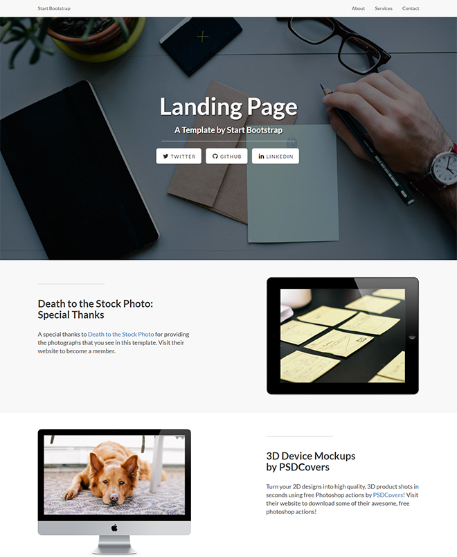 What As A Landing Page